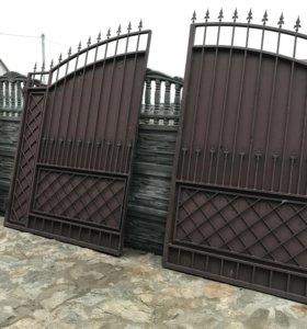 Ворота и калитка б.у пользовались одну зиму