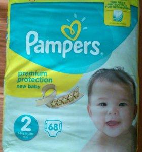Подгузники Pampers 2ка 3-6кг