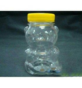 Бутылка Пэт мишка с бочкой 100мл 50шт