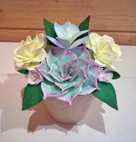 Композиции с цветами из фоамирана