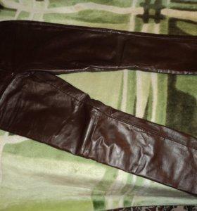 брюки кожаные