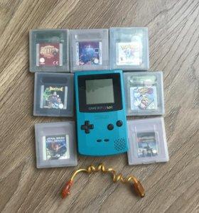 Game Boy Color + оригинальные картриджи