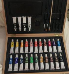 Масляные краски в удобной коробке