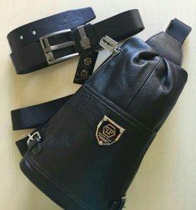 Комплект ремень + рюкзак Philipp Plein