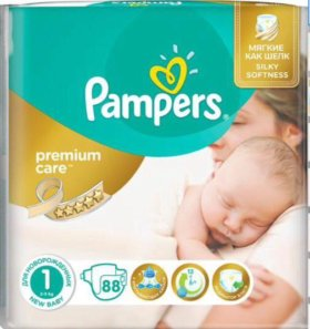 Pampers premium care 2-5 кг 88шт