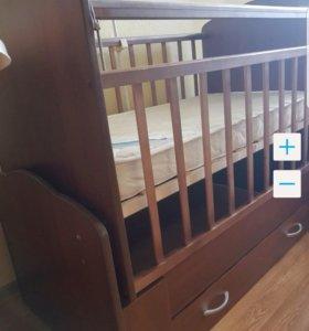 Кроватка детская+матрас ортопедический