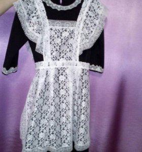 Школьная платье и фартук