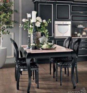 Итальянский стол и 4 стула