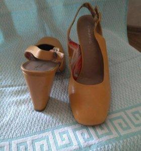 Туфли , босоножки рыжие женские