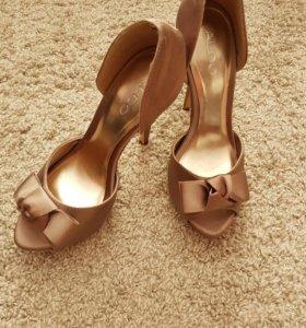 Туфли ALDO цвет бронза (ткань) 38 размер