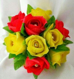Мини букет с розами