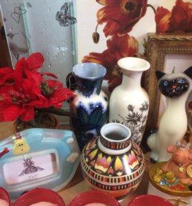 Статуэтки вазочки свечки фигурки
