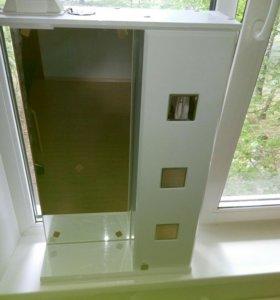 Зеркало со шкафчиком для ванной 50*80