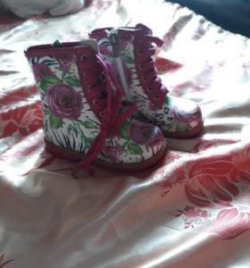Новые детские ботинки р23