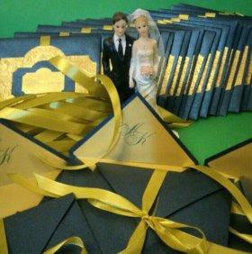 Оформление быков, свадебная книга, свадебная казна