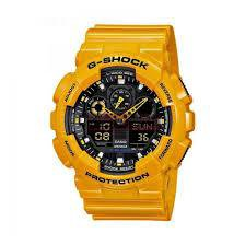 Часы Casio G-Shock WR-20Bar желтые