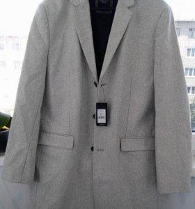 Пальто серо-пепельного цвета (Новое)