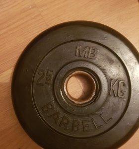 Блины диски barbell и domyos гриф EZ