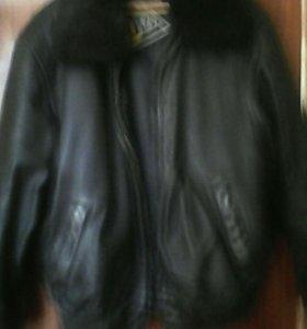 Кожаная натуральная куртка