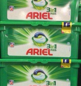 Капсулы для стирки Ariel 60 шт (Финляндия)