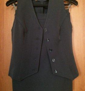 Классический костюм: юбка + жилет