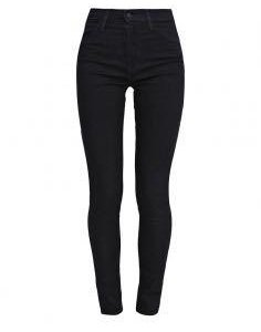 Черные джинсы скини с завышенной талией