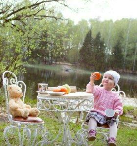 Детская коварная мебель, детские стулья, садовая