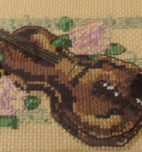 Скрипка вышитая крестиком