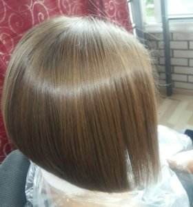 Кератиновое выпрямление волос,флисинг