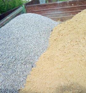 Песок , щебень , цемент , эконом доставка .
