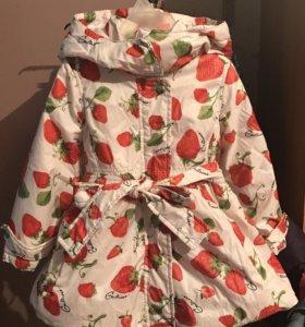 Пальто утеплённое на девочку