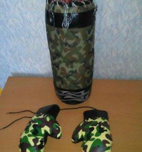 Боксерская груша, перчатки + чехол-сумка