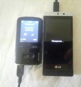 Mp3 плеер на 8 гигов и телефон (не андроид)