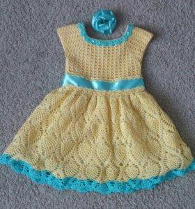 Платье для девочки ручной работы. 2 - 3 годика