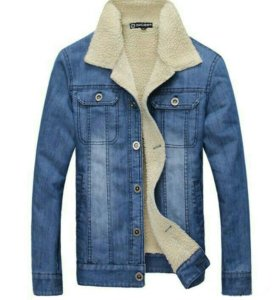 Куртка джинсовая с мехом.