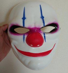Маска злого клоуна Чейнс из игры пэйдэй payday