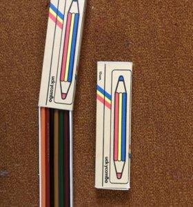2 набора новых цветных карандашей 12 шт