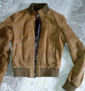 Кожаная замшевая куртка Zara