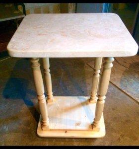 Столик ручной работы из натурального камня