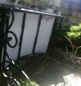 Козырёк входной, кованый