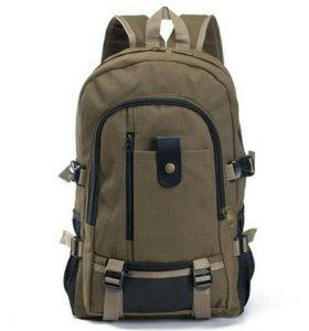 Парусиновый рюкзак новый.