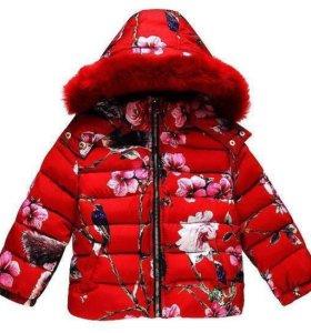 Куртка на девочку, размер 4-5.