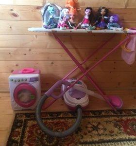 Детская стиральная машинка, пылесос, микроволновка