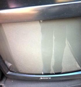 телевизор sony 35 см. антенна. пульт