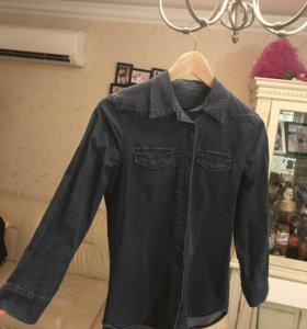 Джинсовая рубашка Max&Go, размер S