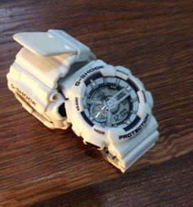 Наручные белые часы джи сшок ga-110
