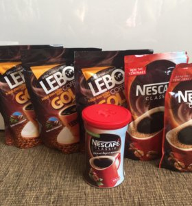 Кофе растворимый LEBO, Nescafé classic 100 гр.