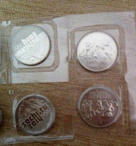 Монеты с Олимпиады Сочи 2014