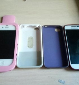 Чехлы на IPhone 4-4s и на Samsung Galaxsy S4mini