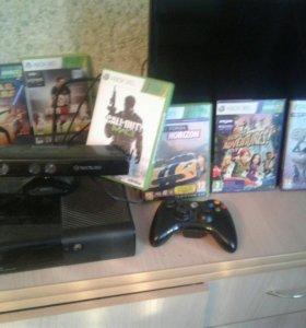 Xbox 360 + Kinect и игры на фото